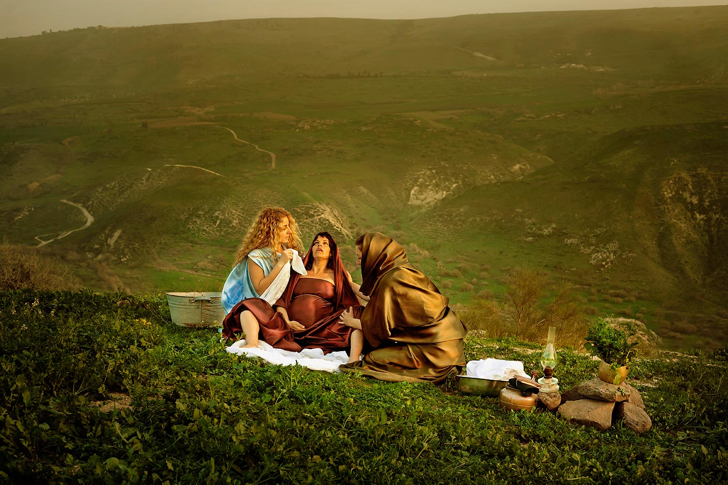 "Shifrah and Puah, the Hebrew Midwives, ""and did not as the king of Egypt commanded them, but saved the men-children alive."" Exodus 1 ;17"