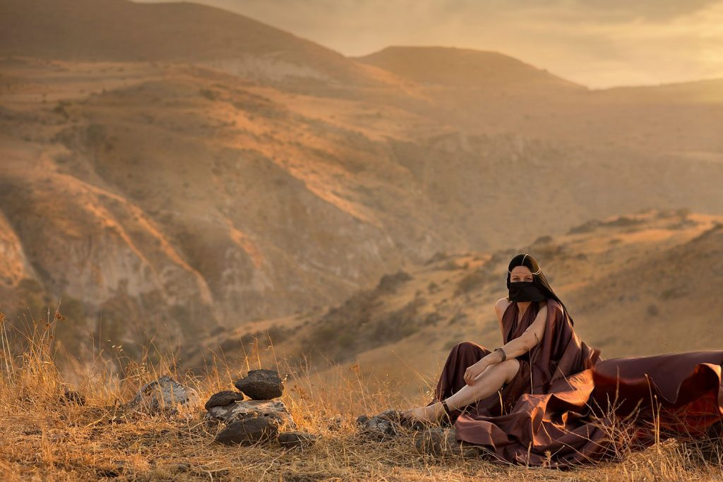 """Tamar, Judah's daughter-in-law """"And she put off from her the garments of her widowhood, and covered herself with her veil, and wrapped herself, and sat in the entrance of Enaim, which is by the way to Timnah; .. When Judah saw her, he thought her to be a harlot; for she had covered her face."""" Genesis 38 15-15"""