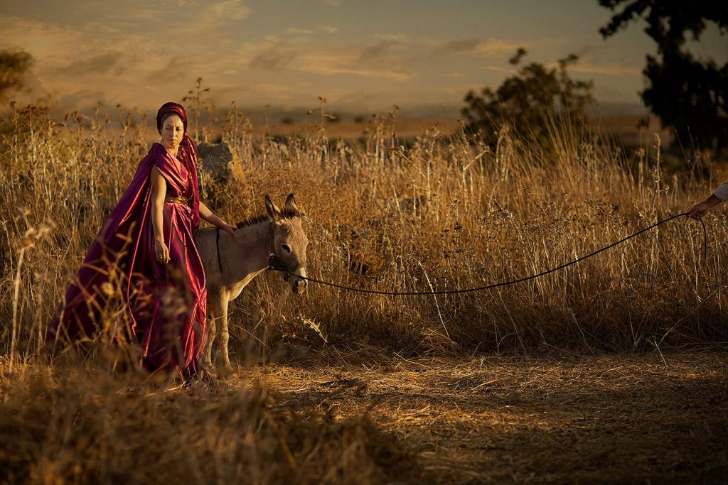 """Woman of Shunem """"Then she saddled an ass, and said to her servant: 'Drive, and go forward; slacken me not the riding, except I bid thee.'״ Kings   , 4 24"""